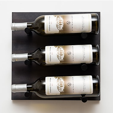 VintageView 3 Bottle Wall Mounted Wine Rack; Anodized Black Rod