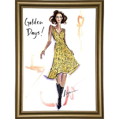 East Urban Home 'Golden Days' Print; Bistro Gold Framed Paper