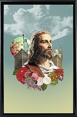 East Urban Home 'The Messenger' Framed Graphic Art Print; Wood Floater Framed Wrapped Canvas