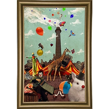 East Urban Home 'Circus' Framed Graphic Art Print; Bistro Gold Framed Paper