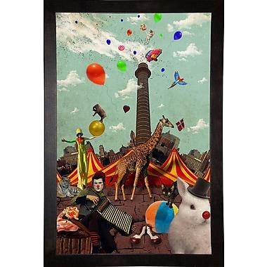 East Urban Home 'Circus' Framed Graphic Art Print; Cafe Espresso Wood Framed Paper