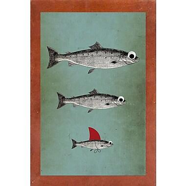 East Urban Home 'Surviving' Framed Graphic Art Print; Canadian Walnut Wood Medium Framed Paper