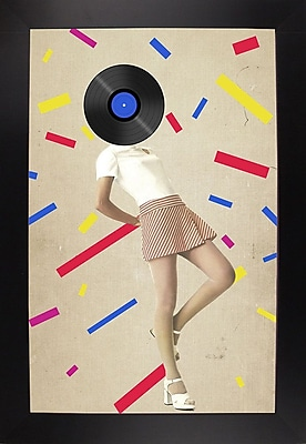 East Urban Home 'The Party Never Ends' Framed Graphic Art Print; Black Floater Framed Canvas