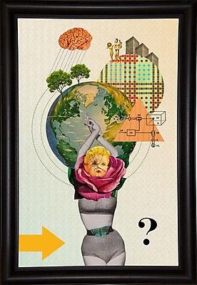 East Urban Home 'Mother Nature' Framed Graphic Art Print; Bistro Expresso Framed Paper
