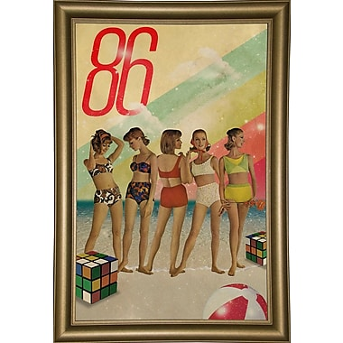 East Urban Home 'Beach Days are Over' Framed Print; Rolled Canvas
