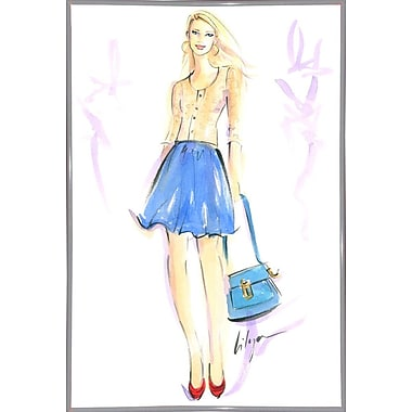 East Urban Home 'Summer Casual' Print; White Metal Framed Paper