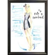 East Urban Home 'Cute Overload' Print; Black Wood Grande Framed Paper