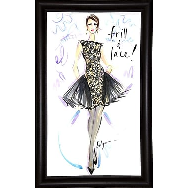 East Urban Home 'Frill and Lace' Print; Bistro Expresso Framed Paper