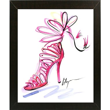 East Urban Home 'Pink Up Your Heels' Print; Paper