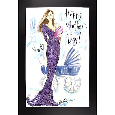 East Urban Home 'Happy Mother's Day' Print; Black Wood Large Framed Paper
