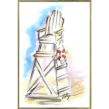 East Urban Home 'On Guard' Print; Gold Metal Framed Paper
