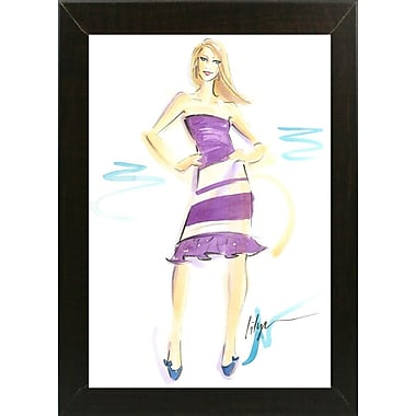 East Urban Home 'Purple Jane' Print; Brazilian Walnut Wood Medium Framed Paper