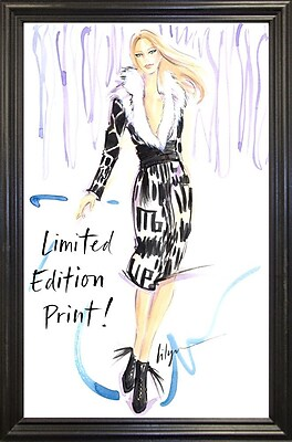 East Urban Home 'Limited Edition' Print; Black Wood Grande Framed Paper