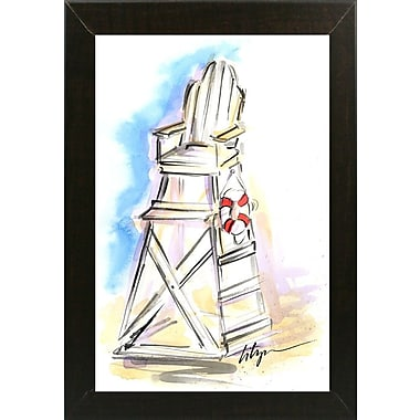 East Urban Home 'On Guard' Print; Brazilian Walnut Wood Medium Framed Paper