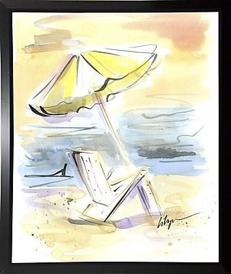 Highland Dunes 'Beach View' Print; Black Plastic Framed Paper