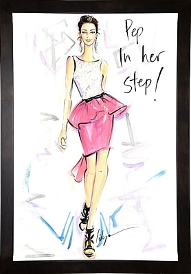 East Urban Home 'Pep in Her Step' Print; Cafe Espresso Wood Framed Paper