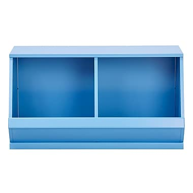 Kingstown Home Lucille Birchkelly Stackable Storage 2 Compartment Cubby; Heritage Blue