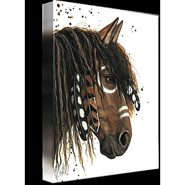 Latitude Run 'Curly Horse' Graphic Art Print on Wrapped Canvas