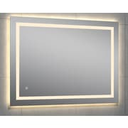 Orren Ellis Kali Rectangle LED Wall Mirror; 28'' H x 44'' W x 1.75'' D