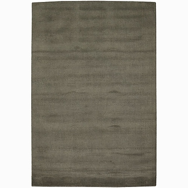 Red Barrel Studio Yiman Gray Solid Area Rug; Rectangle 7'9'' x 10'6''