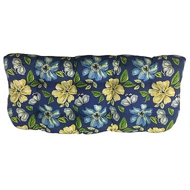 Winston Porter Floral Sunbrella Bench Cushion