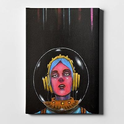 Varick Gallery 'Starship Stella' Giclee Acrylic Painting Print on Canvas; 40'' H x 26'' W x 1.25'' D