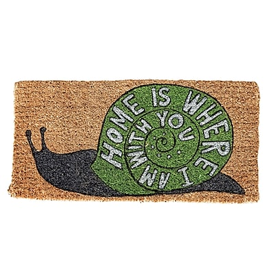August Grove Harding Home is Where Natural Coir Doormat