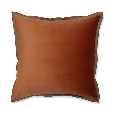 Alcott Hill Benson Flange Loden Throw Pillow; Orange