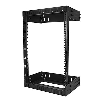 StarTech Wall Mount Server Rack, 15U Rack, 12- 20in Adjustable Depth (RK15WALLOA)