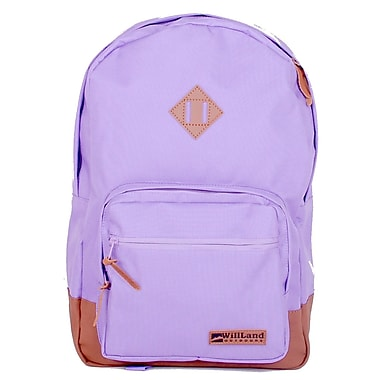 WillLand Outdoors College Luminosa Backpack, Light Purple (B60775)