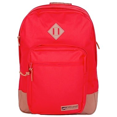 WillLand Outdoors College Luminosa Forte Backpack, Red (B60787)