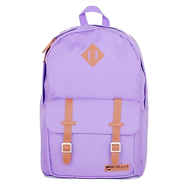 WillLand Outdoors College Romantica Backpack, Light Purple (B60777)