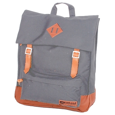 WillLand Outdoors College Victoria Backpack, Dark Grey (B60873)