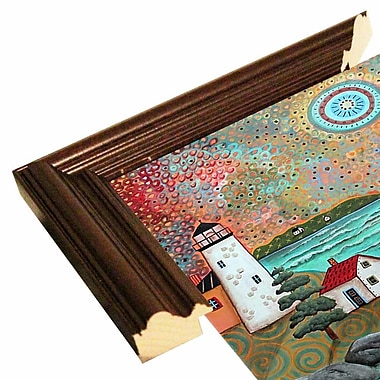Winston Porter 'Blue Sea' Print; Cherry Wood Grande Framed Paper