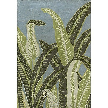 Bay Isle Home Kruger Green/Blue Area Rug; 2' x 3'