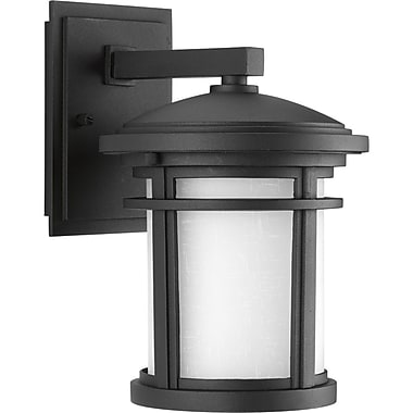 Bloomsbury Market Chamberlain 1-Light LED Wall Lantern; Black