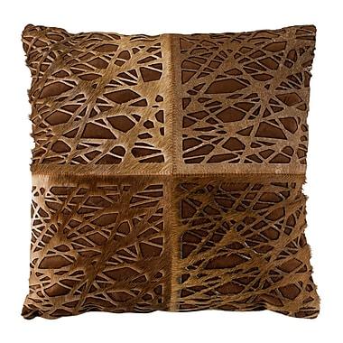 Brayden Studio Wozniak Natural/Organic Throw Pillow; 12'' x 20''