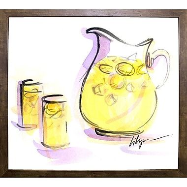 Ebern Designs 'Life Gives You Lemons...' Print; Cafe Mocha Framed Paper