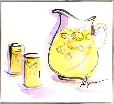 Ebern Designs 'Life Gives You Lemons...' Print; Silver Metal Framed Paper