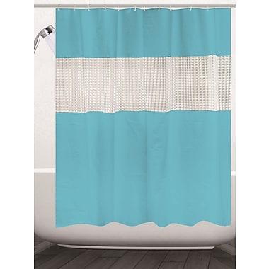 Ebern Designs Albaugh Peva Shower Curtain; Aqua