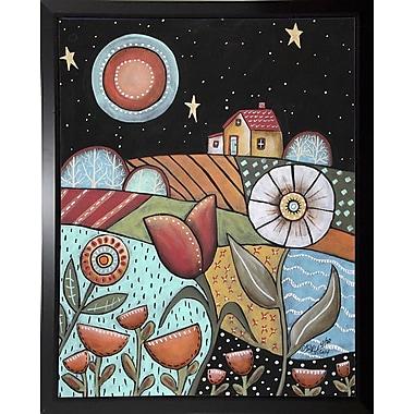 Winston Porter 'Good Night' Print; Black Plastic Framed Paper