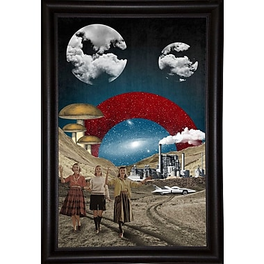 East Urban Home 'Uncertain Future' Framed Graphic Art Print; Paper