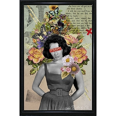 East Urban Home 'Liz Taylor' Framed Graphic Art Print; Black Metal Flat Framed Paper