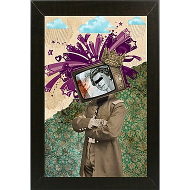 East Urban Home 'Queen and King' Framed Graphic Art Print; Maple Floater Framed Canvas
