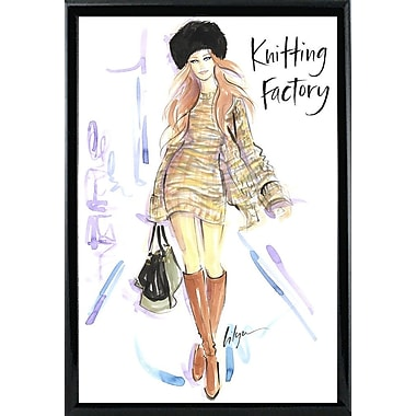 East Urban Home 'Knitting Factory' Print; Rolled Canvas