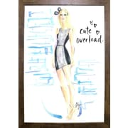 East Urban Home 'Cute Overload' Print; Cafe Mocha Framed Paper