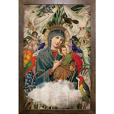 East Urban Home 'Madonna and Child' Framed Graphic Art Print; Cafe Mocha Framed Paper