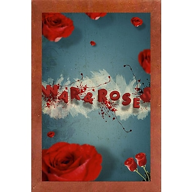 East Urban Home 'War and Roses' Framed Graphic Art Print; Canadian Walnut Wood Medium Framed Paper