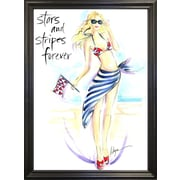 East Urban Home 'Stars and Stripes Forever' Print; Rolled Canvas
