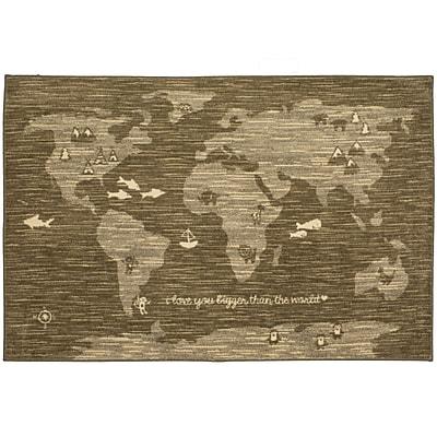 Harriet Bee Johnston Bigger Love Gray/Brown Area Rug; Rectangle 7'6' x 10'